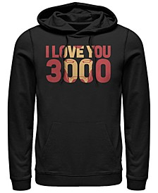 Men's Avengers Endgame I Love You 3000 Iron Man, Pullover Hoodie
