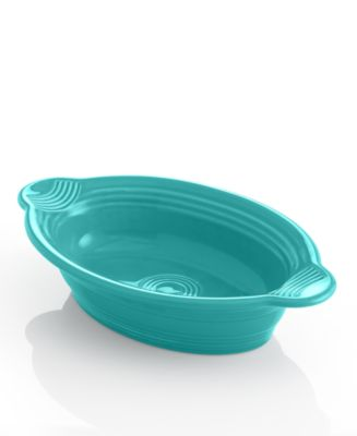 Turquoise Individual Oval Casserole