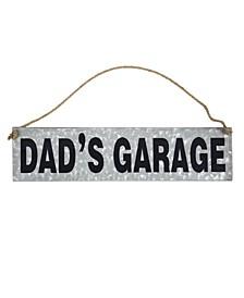 American Art Decor Dad's Garage Hanging Sign