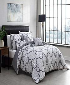 Lawton Reversible 6-Piece Queen Comforter Set