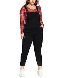 Trendy Plus Size Skinny Overalls