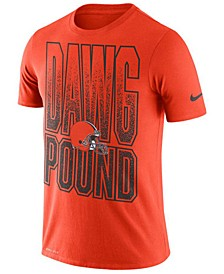 Men's Cleveland Browns Dri-Fit Cotton Mezzo Local Verbiage T-Shirt