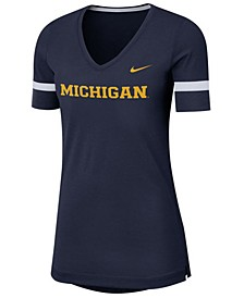 Women's Michigan Wolverines Fan V-Neck T-Shirt