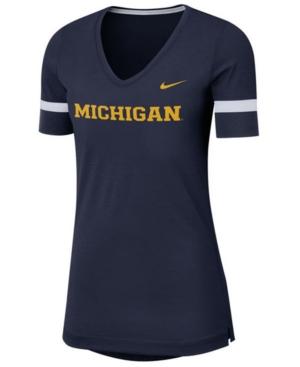 Nike Women's Michigan Wolverines Fan V-Neck T-Shirt