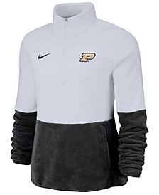 Women's Purdue Boilermakers Therma Long Sleeve Quarter-Zip Pullover