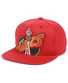 Seattle SuperSonics Hardwood Classic Cropped Snapback Cap