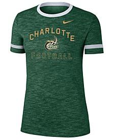 Women's Charlotte 49ers Slub Fan Ringer T-Shirt