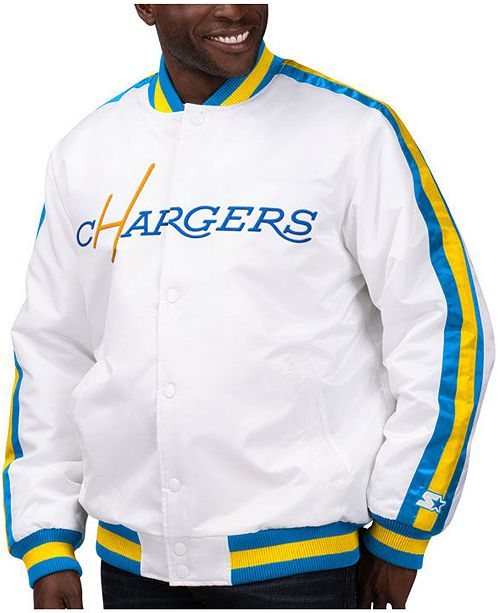 Starter Men's Los Angeles Chargers The D-Line Starter Satin Jacket