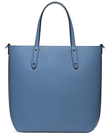 Leather Central Shopper Tote