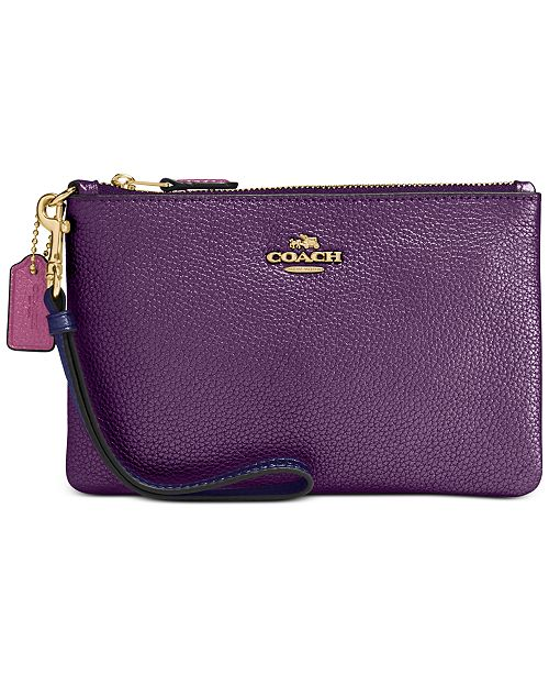 COACH Metallic Colorblock Wristlet