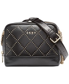 Sofia Leather Stud Double Chain Shoulder Bag, Created For Macy's