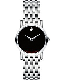 Women's Swiss Automatic Red Label Stainless Steel Bracelet Watch 26mm