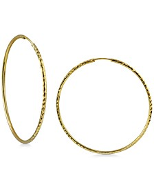 Medium Endless Hoop Earrings in 18K Gold-Plated Sterling Silver, 2""