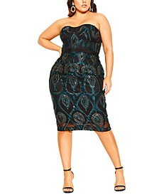Trendy Plus Size Exquisite Embroidered Sheath Dress