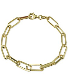 Knife Edge Link Bracelet in 18k Gold-Plated Sterling Silver
