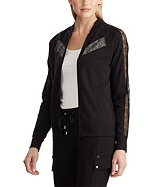 Lace-Trim Fleece Jacket