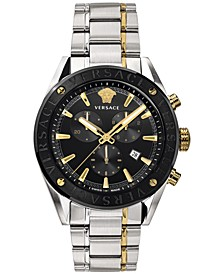 Men's Swiss V-Chrono Two-Tone Stainless Steel Bracelet Watch 44mm