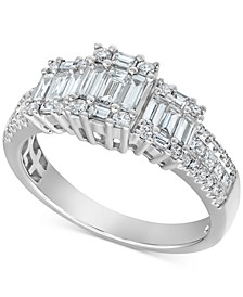 Diamond Baguette Ring (7/8 ct. t.w.) in 14k White Gold