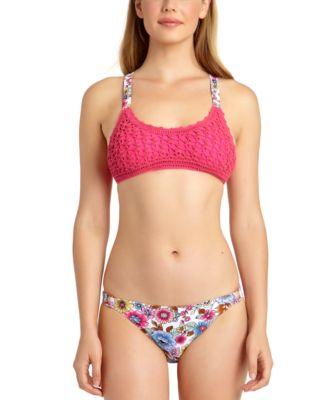 Juniors' Crochet Bralette Bikini Top, Created for Macy's