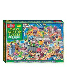 Map of Boston Jigsaw Puzzle, 200-Piece