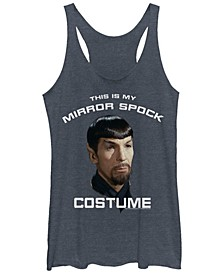 Star Trek Original Series Women's Mirror Spock Costume Tri-Blend Tank Top