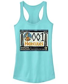 Disney Women's Hercules Grecian Marathon Poster Racerback Tank Top