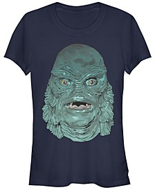 Universal Monsters Women's Creature from The Black Lagoon Big Face Short Sleeve Tee Shirt
