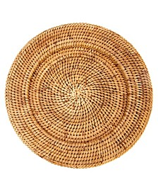 Rattan Solid Weave Charger
