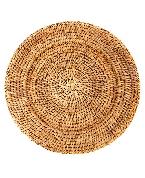 Artifacts Trading Company Rattan Solid Weave Charger