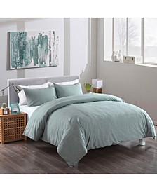 Washed Cotton Duvet Cover and Sham Set, King