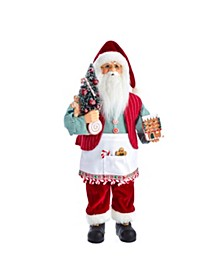 18-Inch Kringle Klaus Santa and Gingerbread House