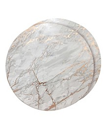 """Foiled Marble Granite Thick Cork Heat Resistant 15""""  Placemats - Set of 2"""