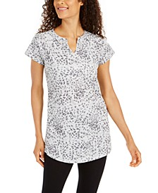 Printed Split-Neck Tunic, Created for Macy's