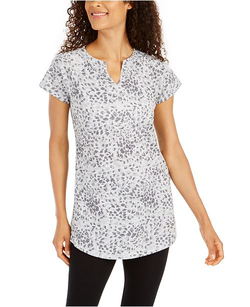 Ideology Printed Split-Neck Tunic, Created For Macy's