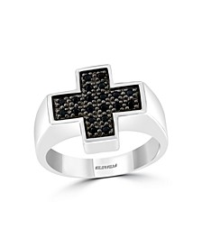 EFFY®  Men's Black Spinel (1/3 ct. t.w) Ring in Sterling Silver