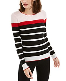 Striped Colorblocked Sweater, Created For Macy's