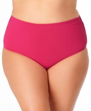 Plus Size High-Waist Bikini Bottoms Women's Swimsuit