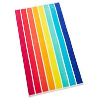 Deals on Martha Stewart Collection Vertical Rainbow Beach Towels
