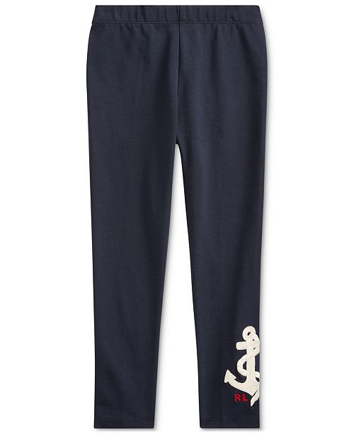 Polo Ralph Lauren Little Girls Anchor Stretch Jersey Legging