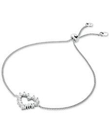 Love Pavé Crystal Open Heart Slider Bracelet