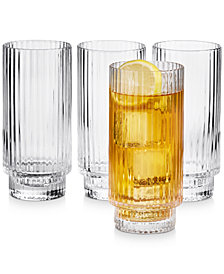 Hotel Collection Fluted Highball Glasses, Set of 4, Created for Macy's