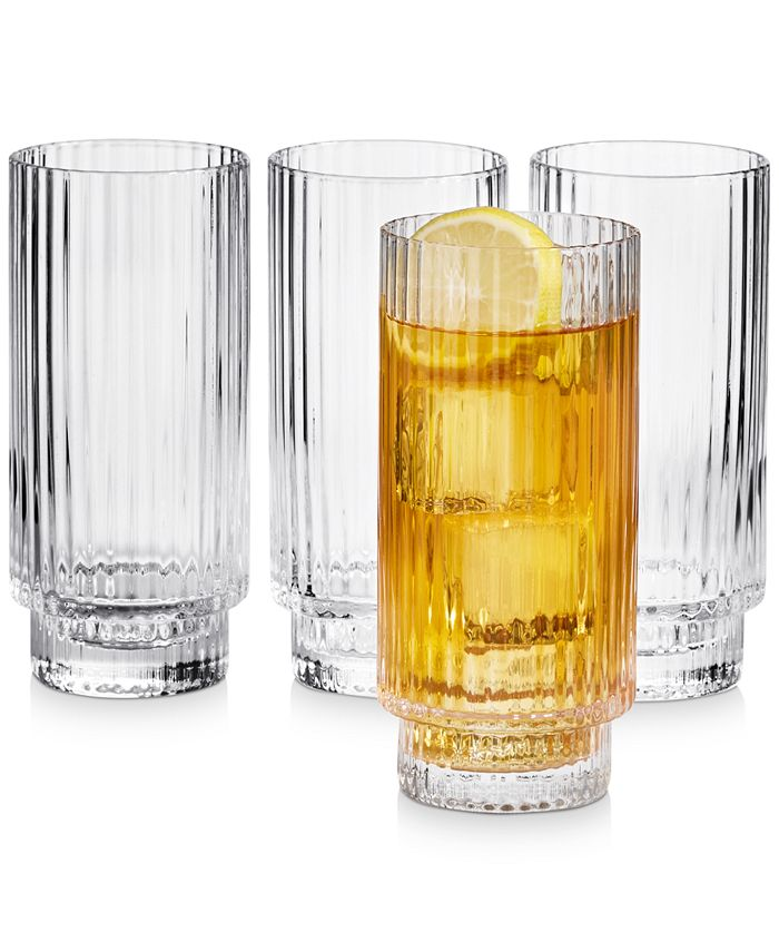 Hotel Collection - Fluted Highball Glasses, Set of 4, Created For Macy's