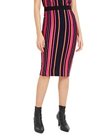 Metallic Striped Pencil Skirt, Metallic Striped Pencil Skirt