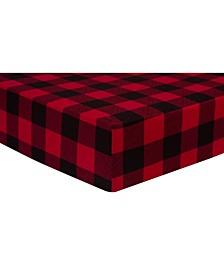 Buffalo Check Jersey Crib Sheet