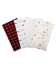 Buffalo Check Woodland Flannel Burp Cloth 4-Pack