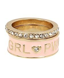 GRL PWR Affirmation Ring Set