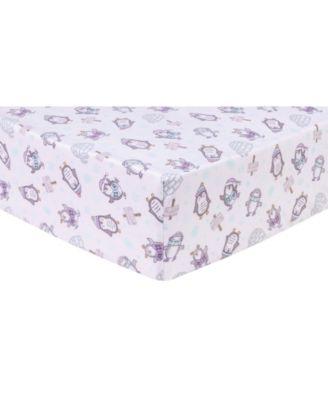 Happy Penguins Flannel Crib Sheet