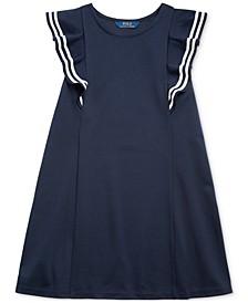 Big Girls Ruffled Stretch Ponte Dress