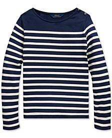 Big Girls Striped Cotton Jersey Top