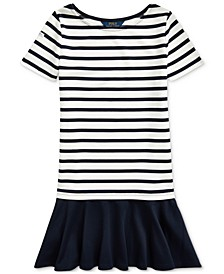 Big Girls Striped Stretch Ponte Dress